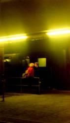 Paar am Zug