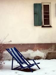 Liegestuhl im Schnee I