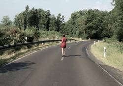 Girl on the road