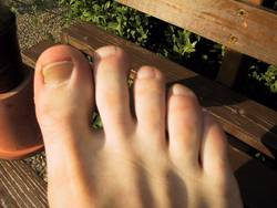 Fußzehen