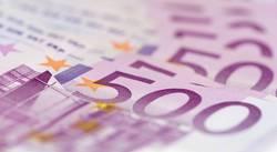 500 Euro Bargeld Geld Stapel der Bank für Finanzen Geldscheine
