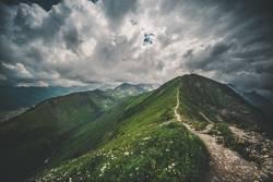 Alpengipfel mit Wolken