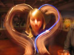 Blue Light Heart