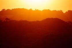 Sonnenuntergang über Mosambik