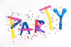 Konfetti + Luftballons = Party