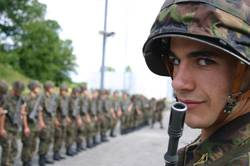 Portrait eines Soldaten