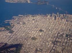 San Francisco Downtown Luftaufnahme