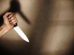 Hand und Messer