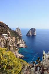 Capri mit Sonne