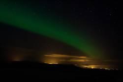 Aurora über Selfoss