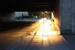 glowing footpath
