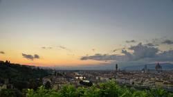 Florenz nach Sonnenuntergang