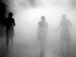 hinein in den Nebel