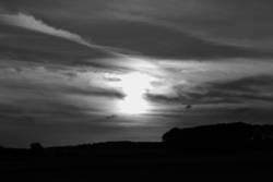 Sonnenuntergang bei Dettingen