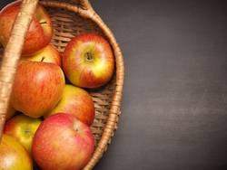 Bio Äpfel im Korb