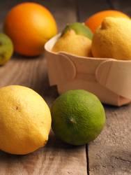 Vitamin C Zitrone, Limette, Orange