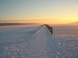 Steg im Schnee