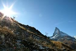 Matterhorn vs. Sonne