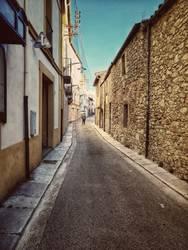 katalanische Dorfstraße