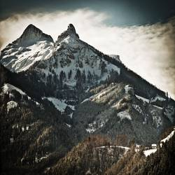 Kleine Hütte, große Berge