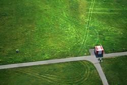 sibirischer grenzposten im hochsommer
