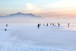 Winter, Chiemsee, Alpen