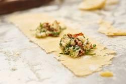 fresh handmade tortellini with fresh pasta