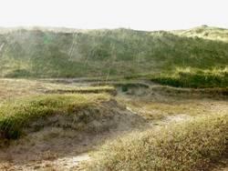 Dünen im Regen in Dänemark