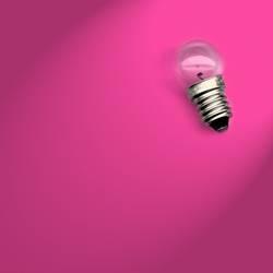 Glühbirnchen pink