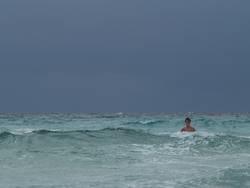 Allein im Meer