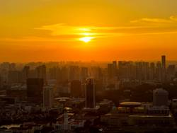 Singapur Sonnenuntergang