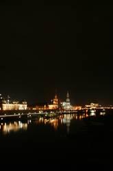 Dresden night skyline