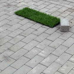 Trifft ein Stein ein Stück Rasen ...