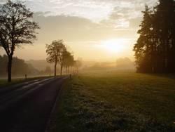 Sonnenaufgang kurz vor Franken