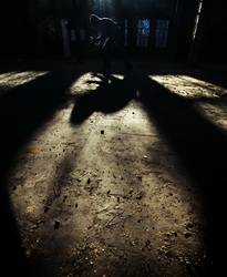 Schattenspielender Schattenspieler