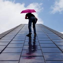 Hauptsache mit Regenschirm