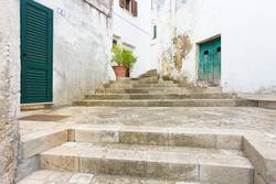 Specchia, Apulia - Walking up a historic stairway