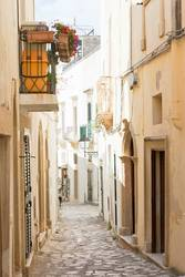 Otranto, Apulia - Alleyway in the old town of Otranto in Italy