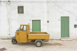 Specchia, Apulia - An old historic three wheeler