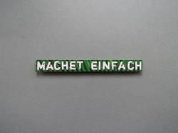 MACHET EINFACH