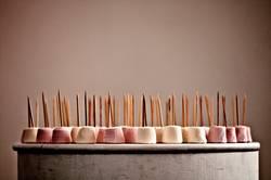 Marshmallows, sweet, food, pink, plinth, joy, pretty, candy