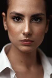 Portrait of sexy caucasian woman