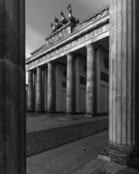 Brandenburger Tor in Seitenperspektive