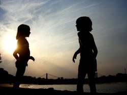 Lichtspiel mit Kindern