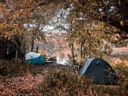 Armut in Deutschland – Zelte am Landwehrkanal