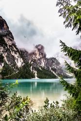 Schlechtes Wetter am Lago di Braies/Pragser Wildsee