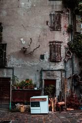 Hinterhof in Italien