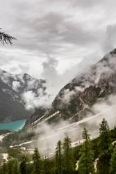 Schlechtes Wetter am Pragser Wildsee/Lago di Braies