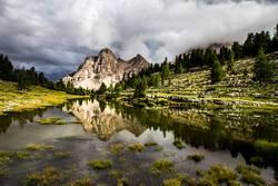 Alm in den Dolomiten