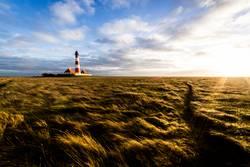 Leuchtturm Westerhever und Sonnenleuchten